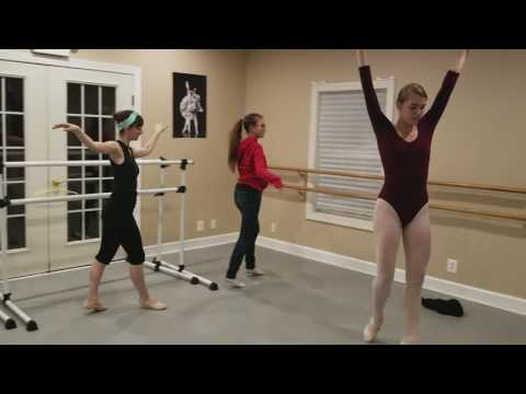 3 Swans rehearsal at Ave Maria Academy of Ballet.