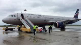 Перелет Москва Анапа Аэрофлот Airbus A321 Рейс SU 1146 Moscow - Anapa