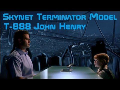 Skynet Terminator Model: T-888 And CPU John Henry