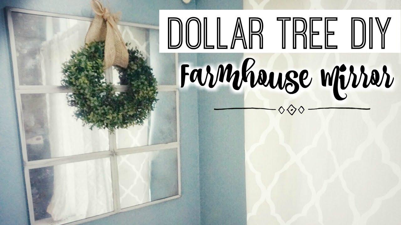 Diy Farmhouse Mirror Dollar Tree Decor Farmhouse Style On A Budget Youtube