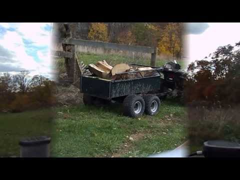 Agri-Fab Atv Trailer hauling firewood review