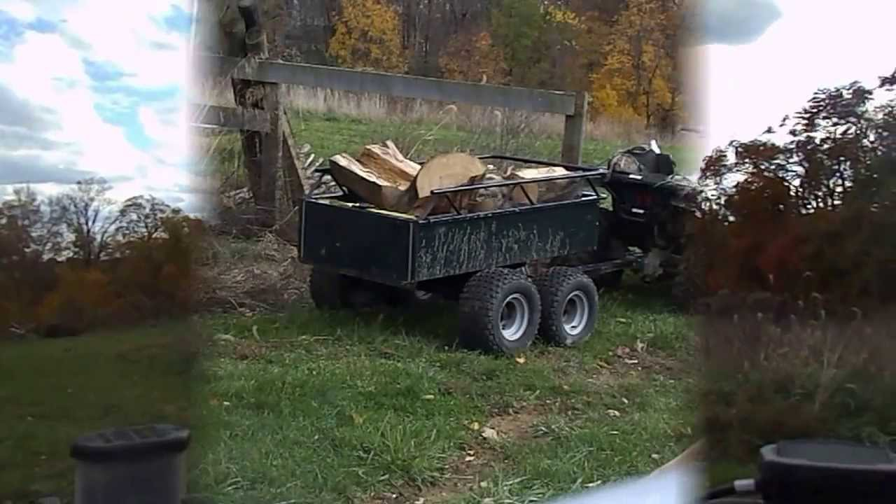 Agri-Fab Atv Trailer hauling firewood review - YouTube
