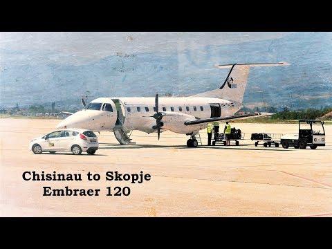 Chisinau (Moldova) – Skopje (Makedonia). Budapest Aircraft Service Ltd. Embraer 120.