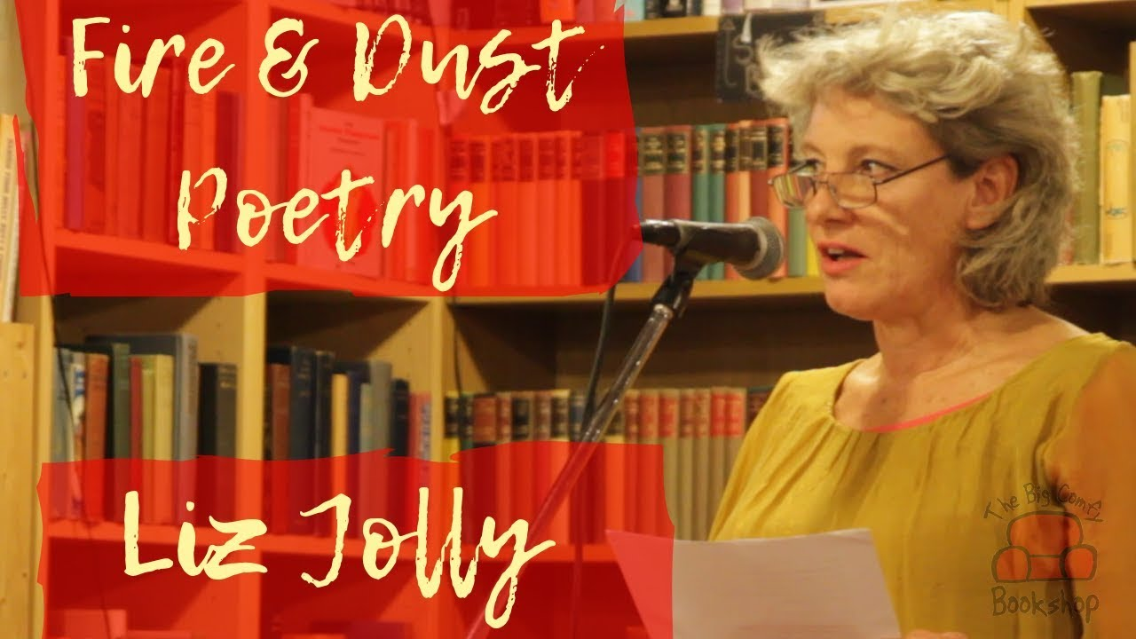 Poet Liz Jolly at The Big Comfy Bookshop for Fire & Dust Poetry