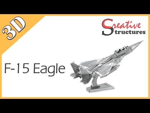 3D metal model & puzzle - F-15 Eagle (Aviation)