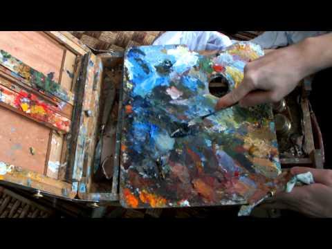 Как очистить палитру от акриловых красок