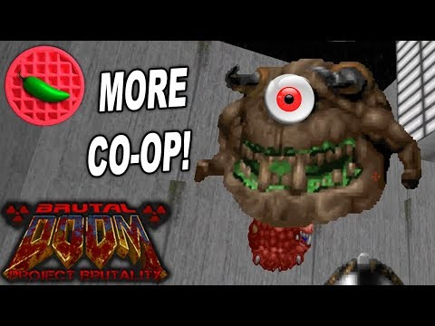 CRAZED CO-OP + CONFUSION! -- Project Brutality 3.0 Test (Doom 2 Master Levels)