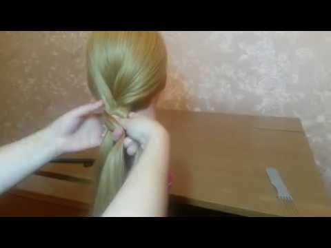 Как заплести косичку из 3 прядей видео