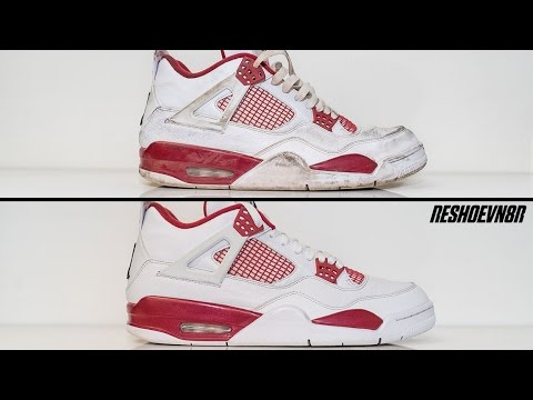 How to clean Air Jordan Alternate 4 s - YouTube 167e224ab