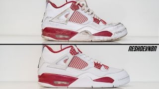 How to clean Air Jordan Alternate 4's