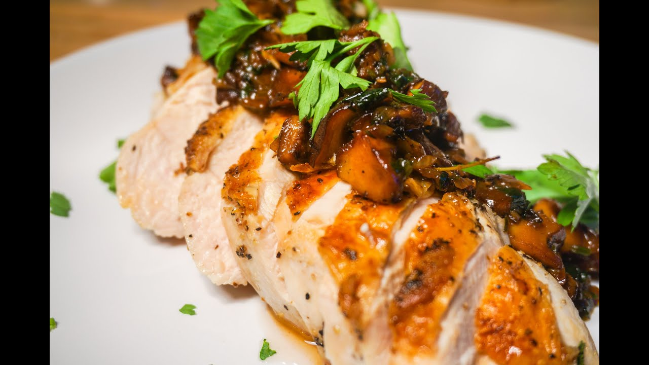 Chicken and mushroom slice recipe