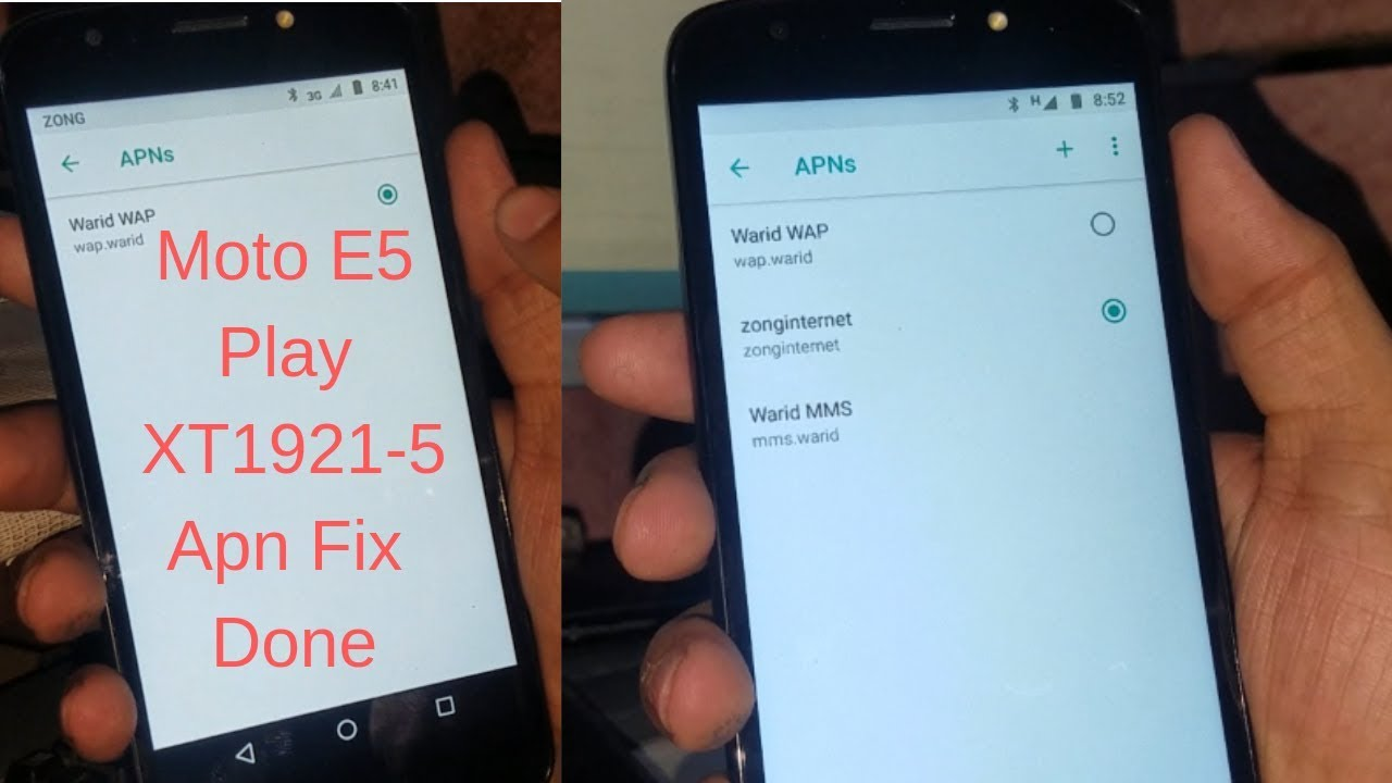 Moto E5 Play XT1921-5 Apn Fix Done 100% OK Solution | mobile cell phone  solution |