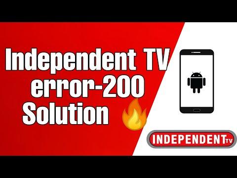 Independent TV Error-200 Unsubscribed Channel Problem Solved