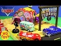 New Disney Cars Toys Precision Series Fillmore's Taste In Cafe Play set McQueen Unboxing