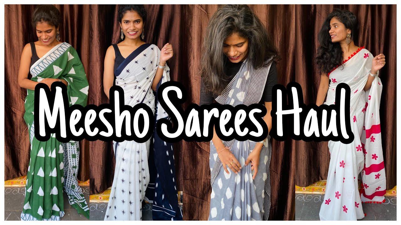 Meesho Sarees Haul | Affordable Cotton Sarees Haul | nayalooks | Navya Varma