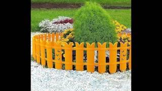 видео Ограждения и заборчики для клумб и цветников своими руками