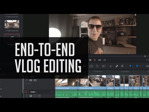How To Edit A Vlog In Resolve 14 - End To End DaVinci Resolve Editing Tutorial