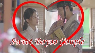 Kim Yoo Jung and  Park bo gum Sweet together in moonlight drawn by cloud