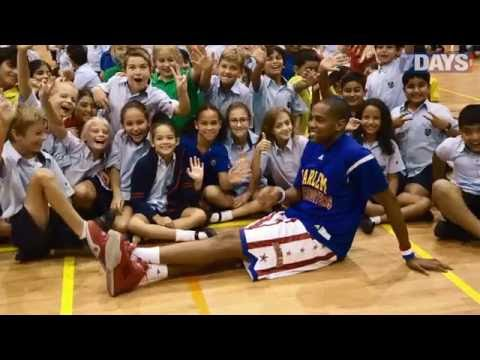 Harlem Globetrotters perform at Dubai International Academy