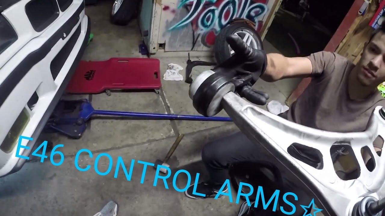 2016 BMW 328I >> CONTROL ARM SWAP E36 TO E46 - YouTube