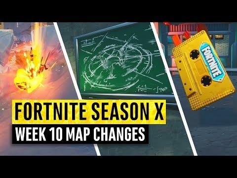 Fortnite | All Season X Map Updates And Hidden Secrets! WEEK 10
