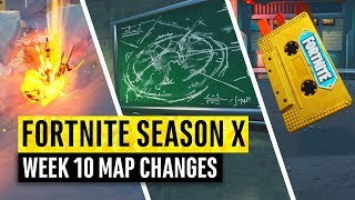Fortnite | All Season X Map Updates and Hidden Secrets! WEEK 10