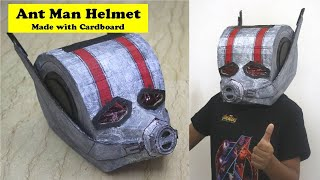 I made Ant-Man Helmet with Cardboard   Easy DIY Marvel Avengers Craft Idea   Ant Man Special Effects