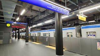 相鉄8000系(2次車) SJ直通線遅延による深夜の羽沢横浜国大行き代走。。