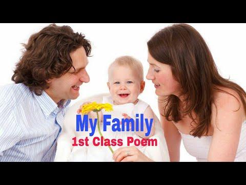 My Family 1st Class Poem- P.J.Manilal