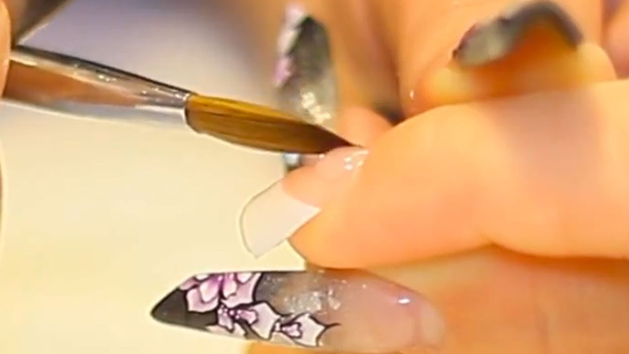 Acrylic Nail Application on-to French White Nail Tips Nail Video ...