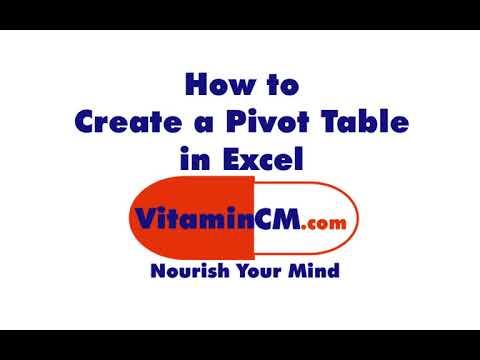 Excel Pivot Table Tutorial