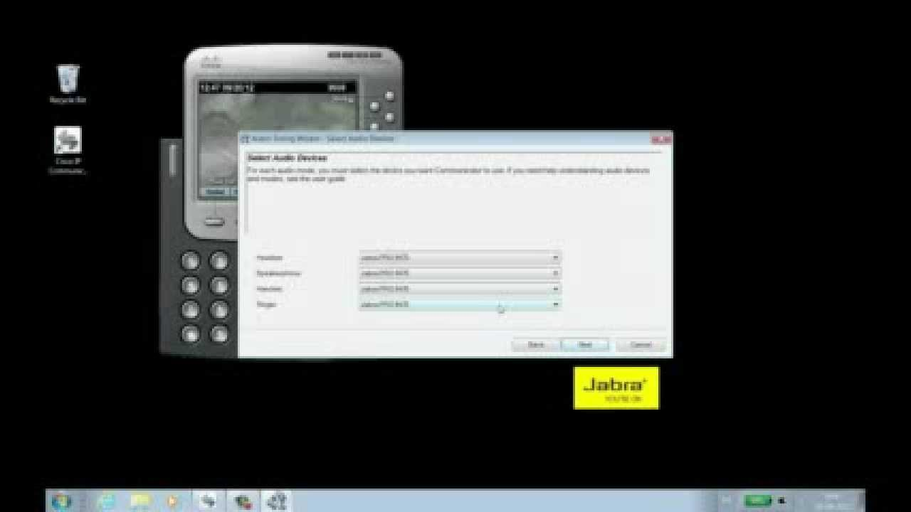 How to adjust settings and use the Jabra Pro™ 9460/70 with Cisco IP  Communicator