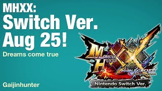 Monster Hunter XX: Switch ver. Aug 25! thumbnail
