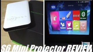 REVIEW: DL-S6 Mini Smart Pico Projector [Android OS]