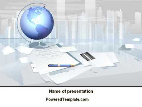 Globe Powerpoint Template By Poweredtemplate Youtube