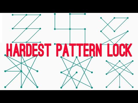 Top 6 Hardest Pattern Lock ever - How to do it  اجمل و اصعب النموط للهاتف و اجهزة الاندرويد