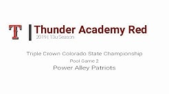 ThunderAcademy13uRed 10 TC CO StateChampionship 2019 Game2