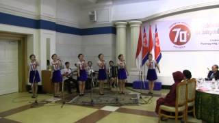 HUT RI ke-70 - Anak-anak Korea Utara menyanyikan lagu-lagu Indonesia