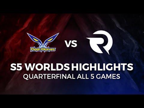 ORIGEN vs FLASH WOLVES Highlights All games Quarter Final 2015 LoL World Championship