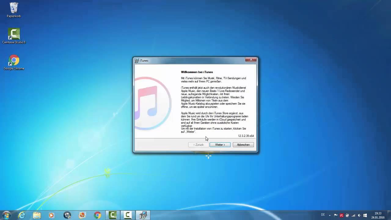 Itunes 12  3  2  Installieren (Deutsch/German) Tutorial Download Windows 7  (64Bit)