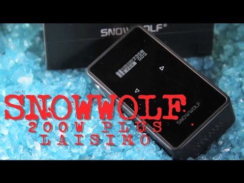 SNOWWOLF 200W Plus BOX MOD ~TOUCH SCREEN~ Laisimo (FIRST LOOK)