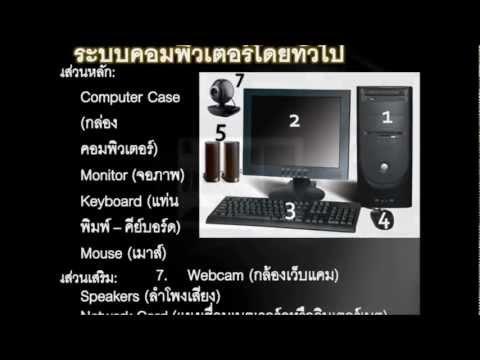 เรียนคอมพิวเตอร์ขั้นพื้นฐาน  บทที่ 1