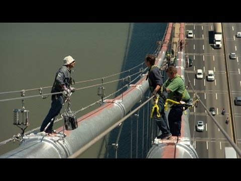 GW Bridge Painter: Dangerous Jobs - YouTube