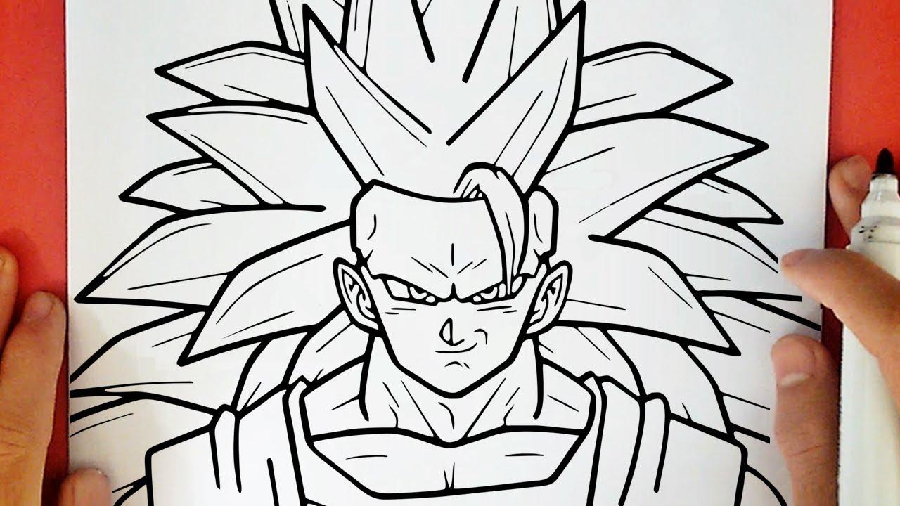 Como Desenhar O Goku Super Sayajin 3 Youtube