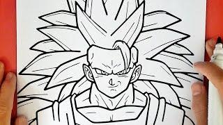 COMO DESENHAR O GOKU SUPER SAYAJIN 3