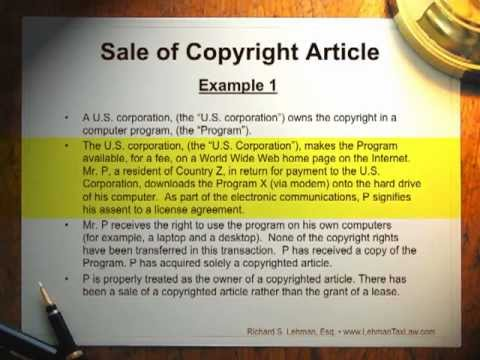 Computer Software, Internet Sales and Licenses: The Benefits of United States Exporting