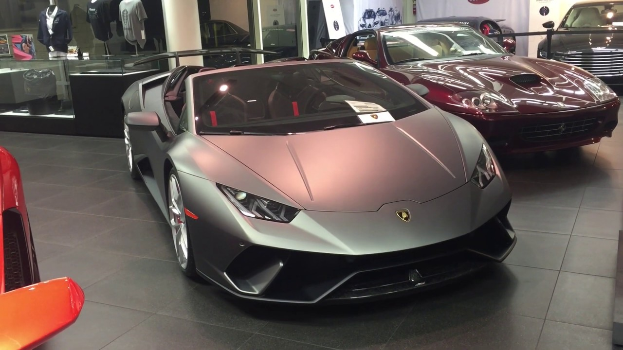 2019 Lamborghini Huracan Performante Spyder Amazing In Matte Grey