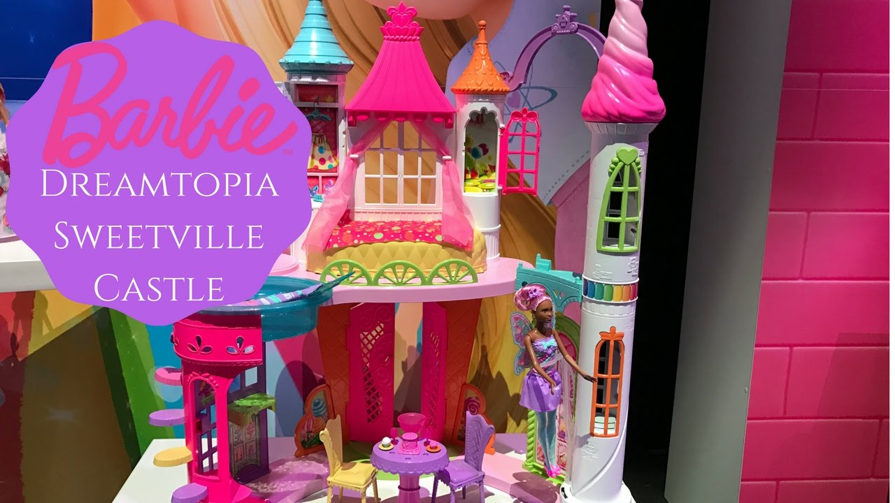 New Barbie Dreamtopia Sweetville Castle Toy Fair 2017