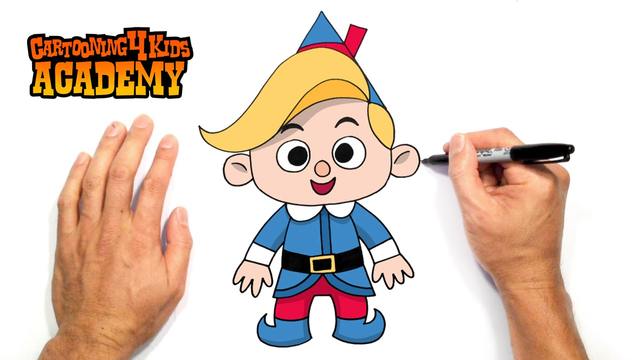 how to draw hermey the christmas elf art for beginners - How To Draw A Christmas Elf
