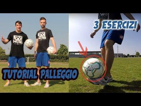 IMPARA A PALLEGGIARE con 3 SEMPLICI ESERCIZI !! Tutorial Calcio #1 FOOTWORK Italia